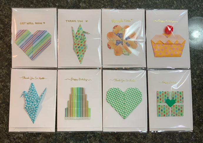Origami Embossed Cards