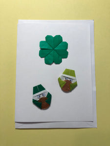 Origami St. Patty's Day Card