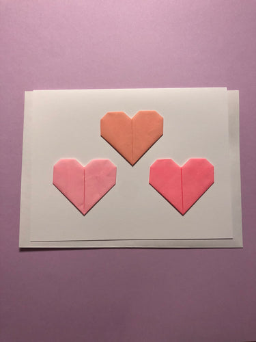 Origami Heart Trio Card