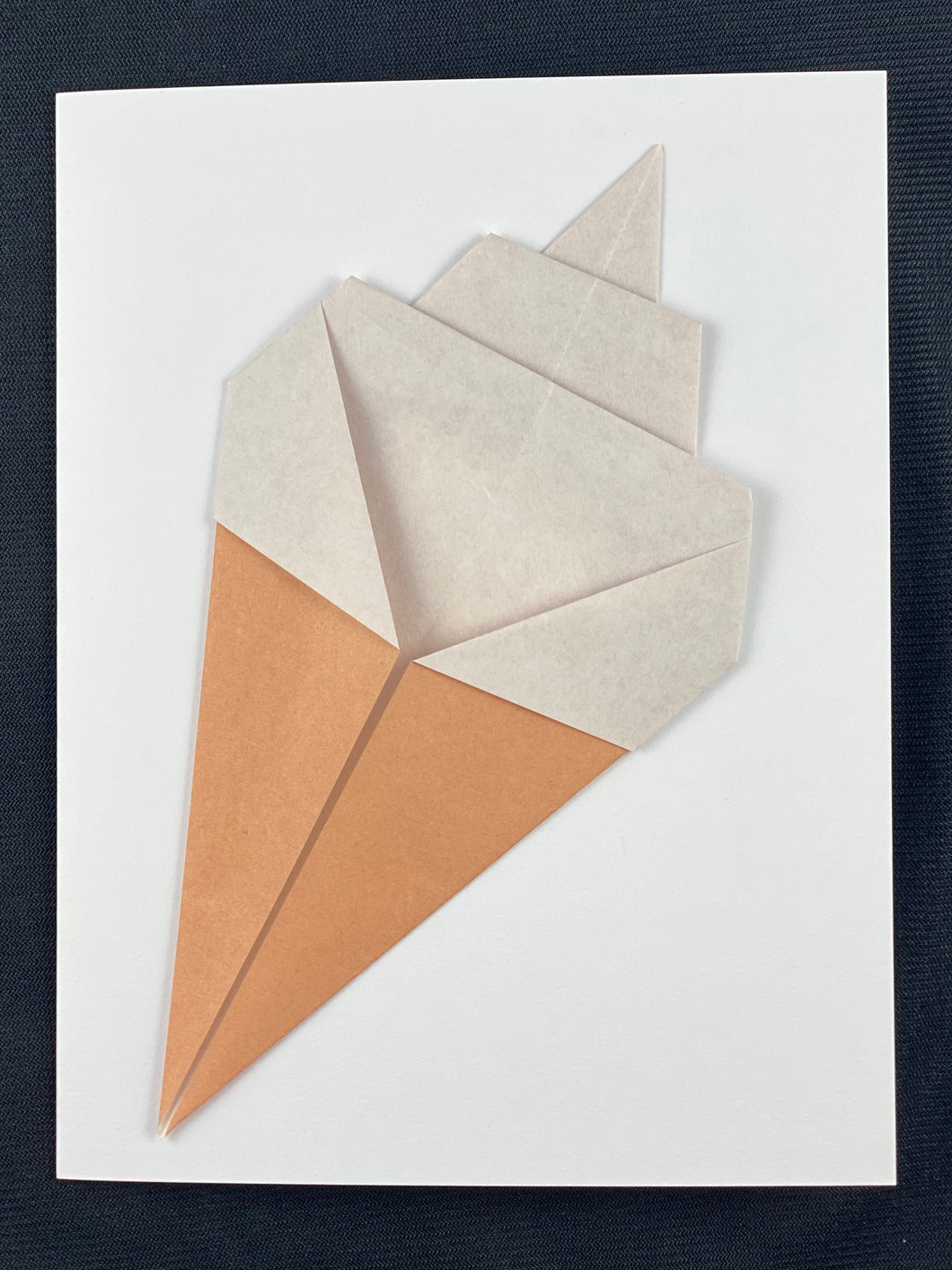 Origami Ice Cream Card
