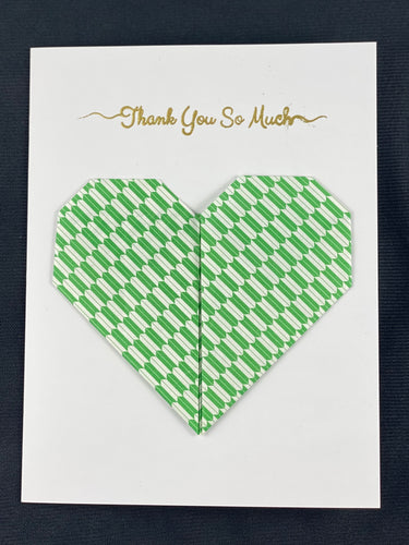 Origami Heart Card with