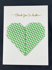 "Origami Heart Card with ""Thank You So Much"" Embossing"