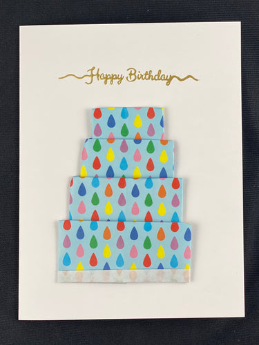 Origami Cake Card with