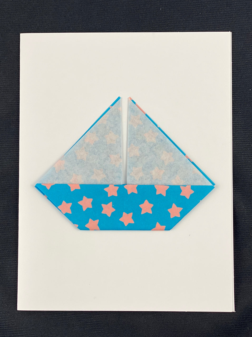 Origami Sailboat Card