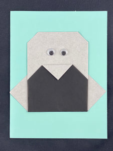 Origami Penguin Card