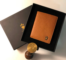 Load image into Gallery viewer, Mens Leather Wallet Mithanni Maceo Brown