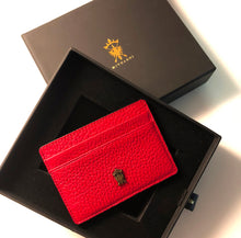 Load image into Gallery viewer, Mens Leather Card Holder Mithanni Maceo Red