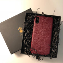 Load image into Gallery viewer, iPhone x Leather Case Mithanni Maceo Claret Red