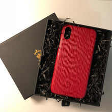 Load image into Gallery viewer, iPhone x Leather Case Mithanni Mattia Red