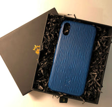 Load image into Gallery viewer, iPhone x Leather Case Mithanni Mattia Blue