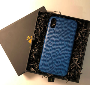 iPhone x Leather Case Mithanni Mattia Blue