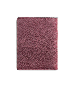 Mens Leather Wallet Mithanni Maceo Claret Red