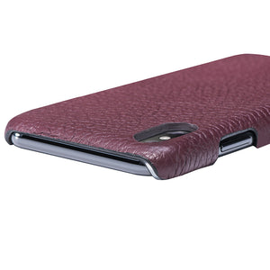 iPhone x Leather Case Mithanni Maceo Claret Red