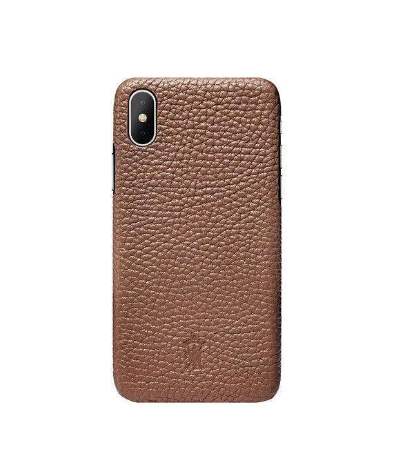 iPhone x Leather Case Mithanni Maceo Brown