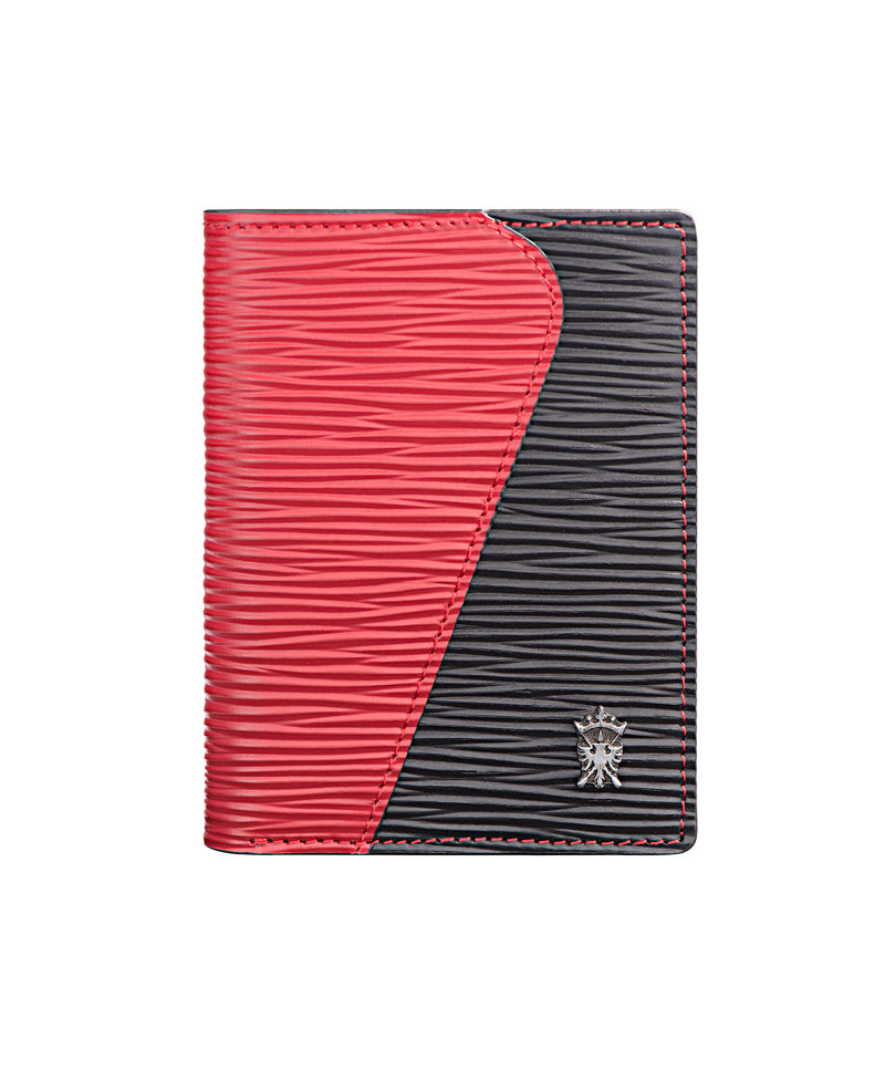 Mens Leather Wallet Mithanni Mattia Red Black