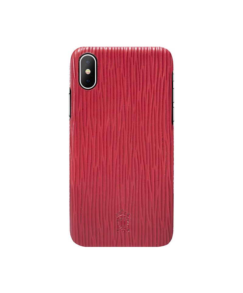 iPhone x Leather Case Mithanni Mattia Red