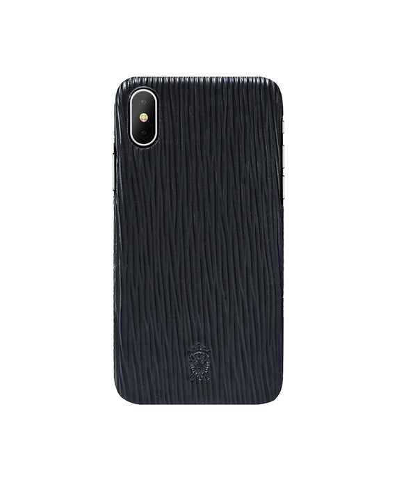 iPhone x Leather Case Mithanni Mattia Black