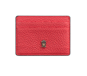 Mens Leather Card Holder Mithanni Maceo Red