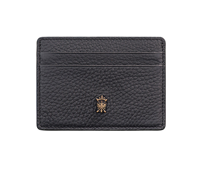 Mens Leather Card Holder Mithanni Maceo Black