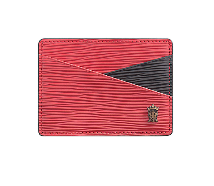 Mens Leather Card Holder Mithanni Mattia Red