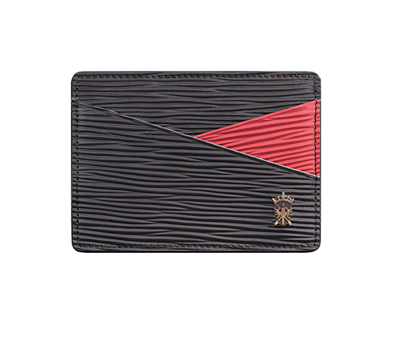 Mens Leather Card Holder Mithanni Mattia Black