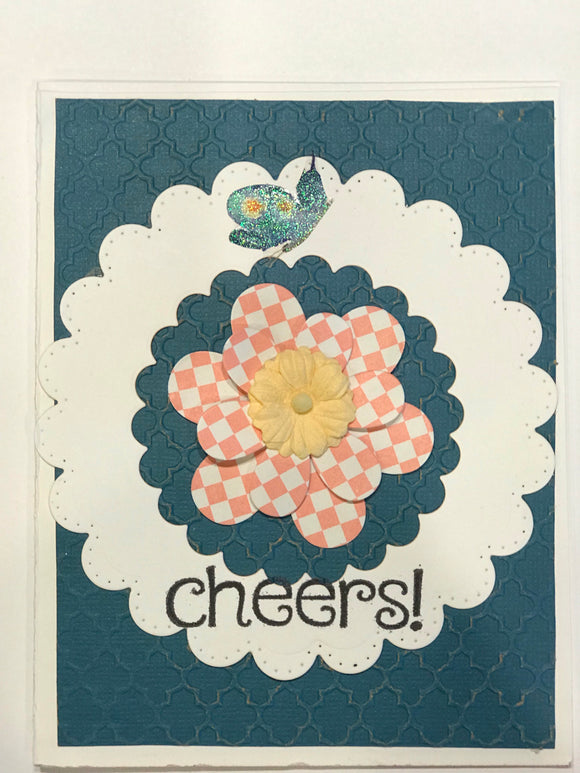 Cheers flower card