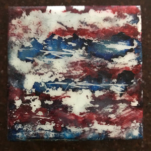 Red white blue trivet