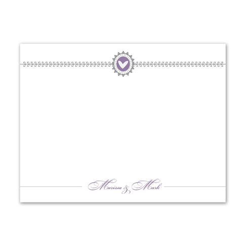 Amethyst Thank You Notecard