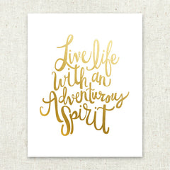 Adventurous Spirit Gold Foil Art Print