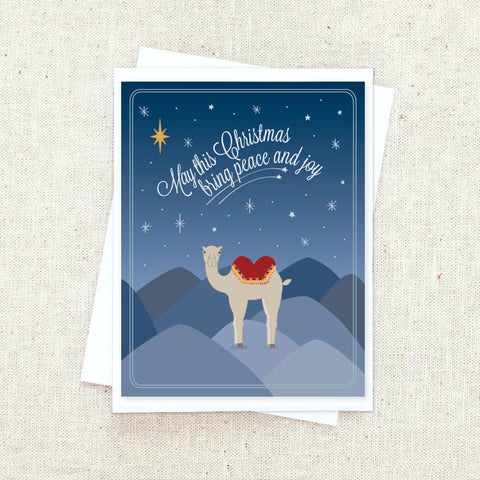 Camel Christmas Greeting Card Set