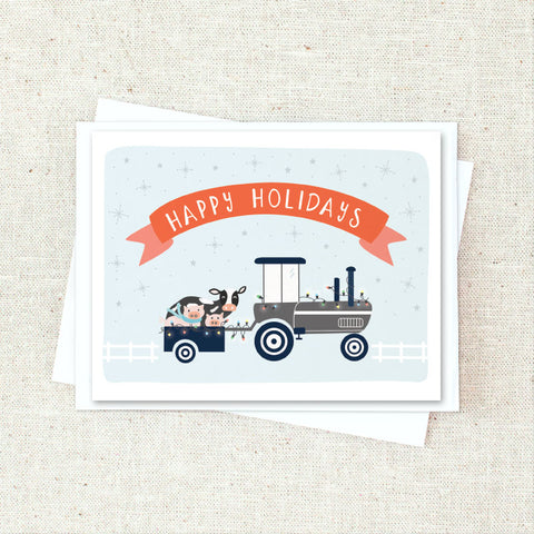 Farm Holiday Greeting Card Set