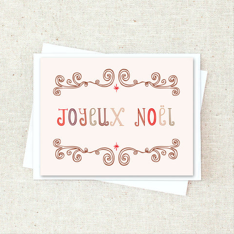Joyeux Noel Greeting Card Set