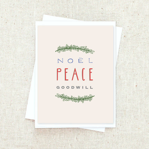 Peace and Goodwill Greeting Card Set