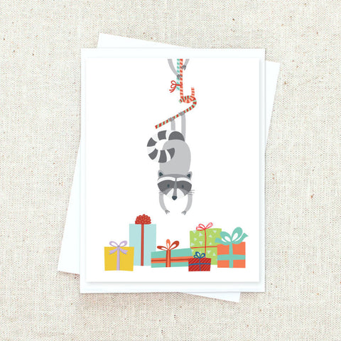 Raccoon Mischief Greeting Card Set