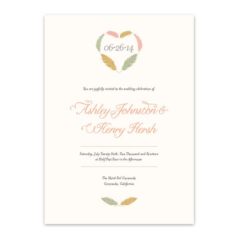 Kori Feathers Invitation