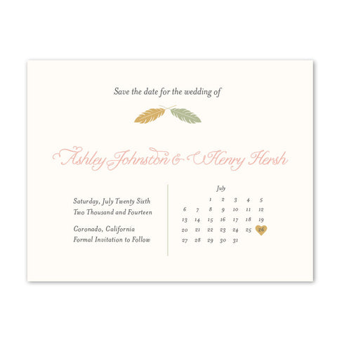 Kori Feathers Save The Date
