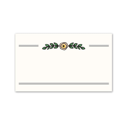 Vintage Garden Place Cards