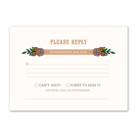 Vintage Garden Reply Card