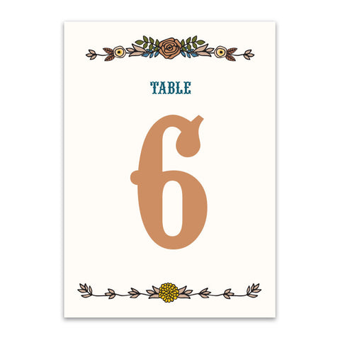 Vintage Garden Table Numbers