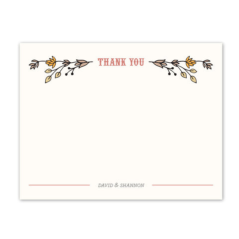 Vintage Garden Thank You Notecard