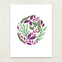 Botanical Swirl Stationery Art Print
