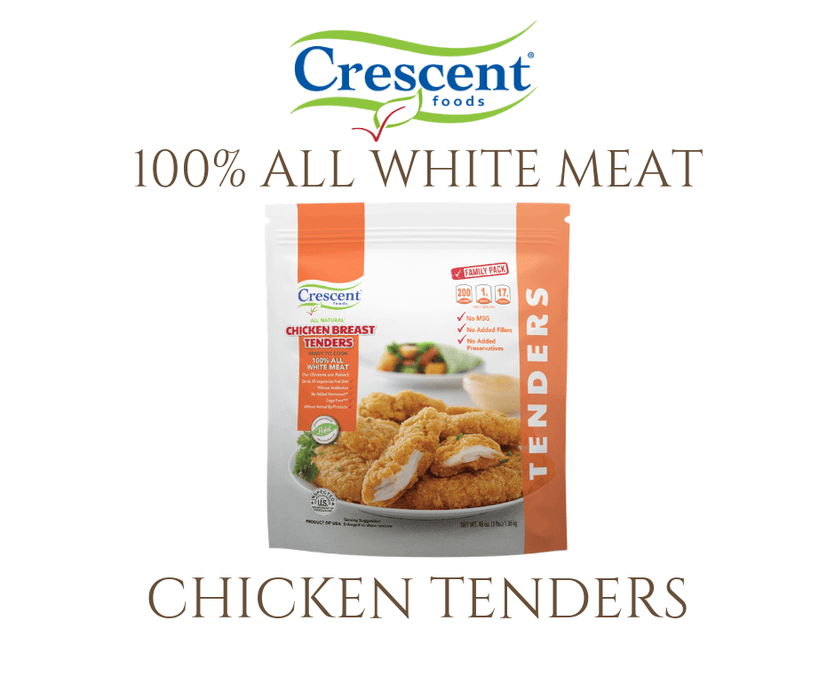 Crescent Chicken Breast Breaded Tenders - WeGotMeat- Columbus Ohio Halal Meat Delivery