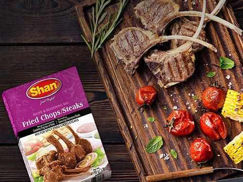Shan Fried Chop Steaks Recipe Mix - WeGotMeat- Columbus Ohio Halal Meat Delivery