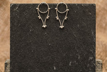Load image into Gallery viewer, Dotted Drops Stud Earrings - Recycled Sterling Silver