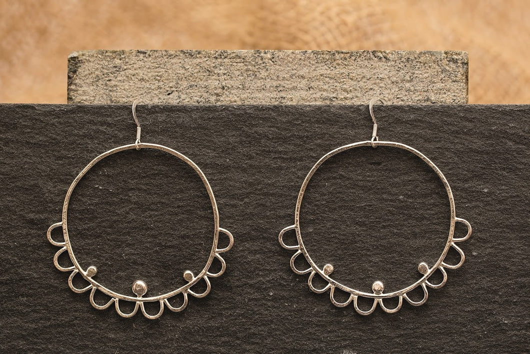 Embellished Statement Hoops