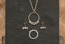 Load image into Gallery viewer, Dotted Hoop Necklace - Recycled Sterling Silver