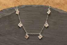 Load image into Gallery viewer, Celestial Squares Bracelet - Recycled Sterling Silver