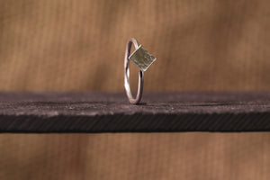 Celestial Square Ring - Recycled Sterling Silver