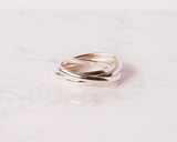 Sterling Silver Russian Wedding Ring \\ Eco Silver //
