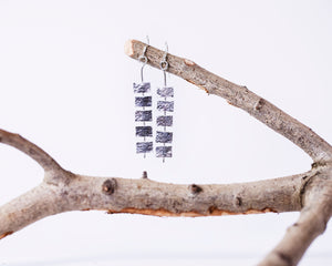 Spine Drop Earrings - Recycled Sterling Silver